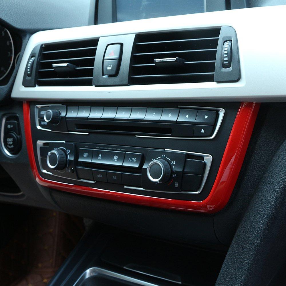 Center Central Panel Frame Trim Car Interior Accessory For 3 Series f30 316 318 320 2013-2017 (Matt silver) DIYUCAR