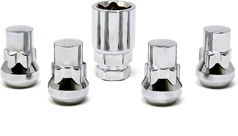 White Knight Wheel Accessories 40900S Chrome 14mm x 1.50 M12x1.50 Acorn Wheel Lock Set 4 Pack