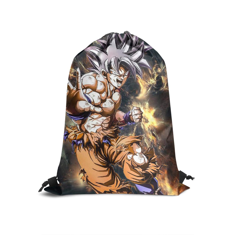 GGameUp Special Drawstring Backpack Son-Goku-Swimming Folding Shoulder Cinch Bag Gym Rucksack Daypack String