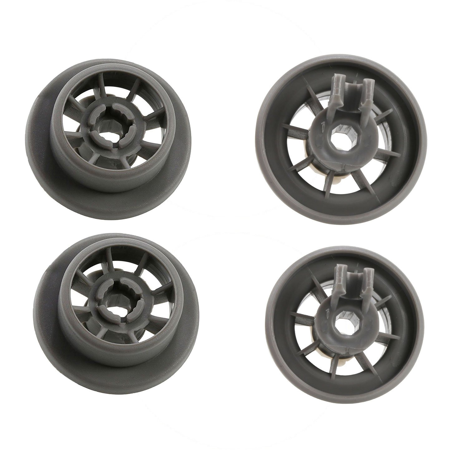 4 X BOSCH//NEFF//SIEMENS GENUINE DISHWASHER LOWER BASKET WHEELS 00165314 165314