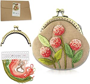Handmade DIY Coin Purse Kiss Lock Material Kit Embroidery Pouch Making Kit (511810)