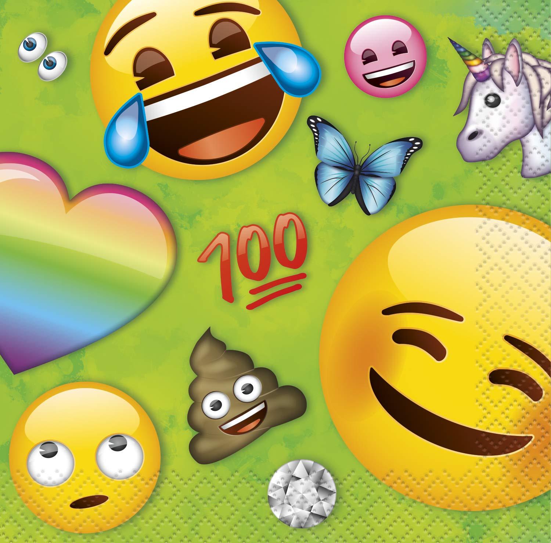 Amazon.com: Rainbow Fun Emoji Beverage Napkins 10