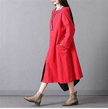 YAN Vestido de Las Señoras Vintage Sudaderas con Capucha de Manga Larga de Las Mujeres Sudadera
