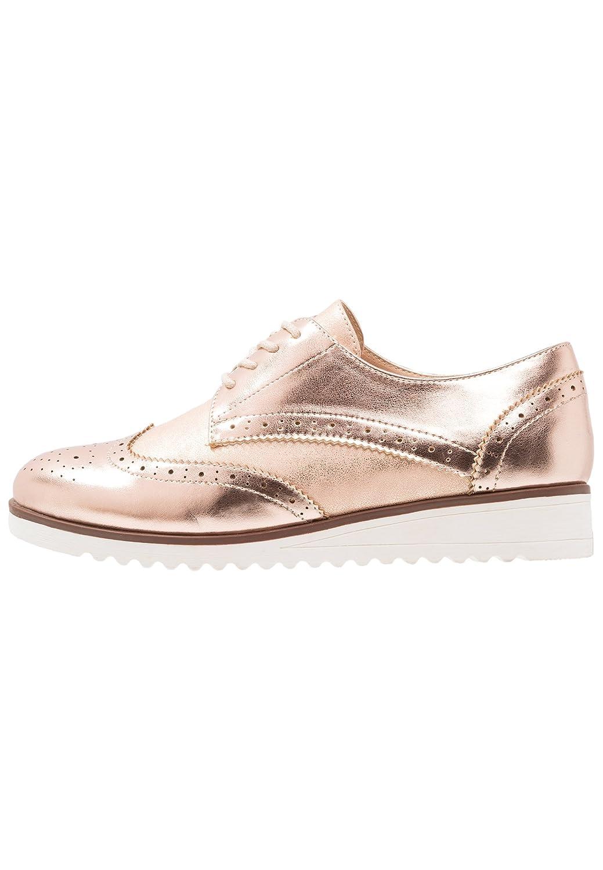 Anna Field Chaussures Oxford à Rose-or Lacets pour Femmes Chic - Femmes Derbies en Cuir pour Femmes Tendance - Chaussures Oxford pour Femmes Avec Finition Métallisée Rose-or 913b34f - conorscully.space