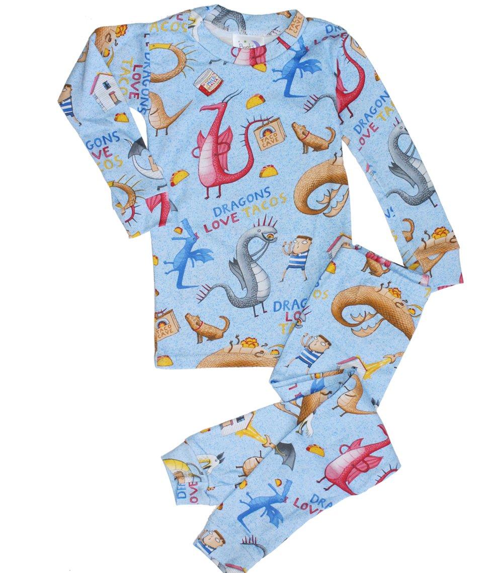 Dragons Love Tacos Kids Pajamas Set - 3T
