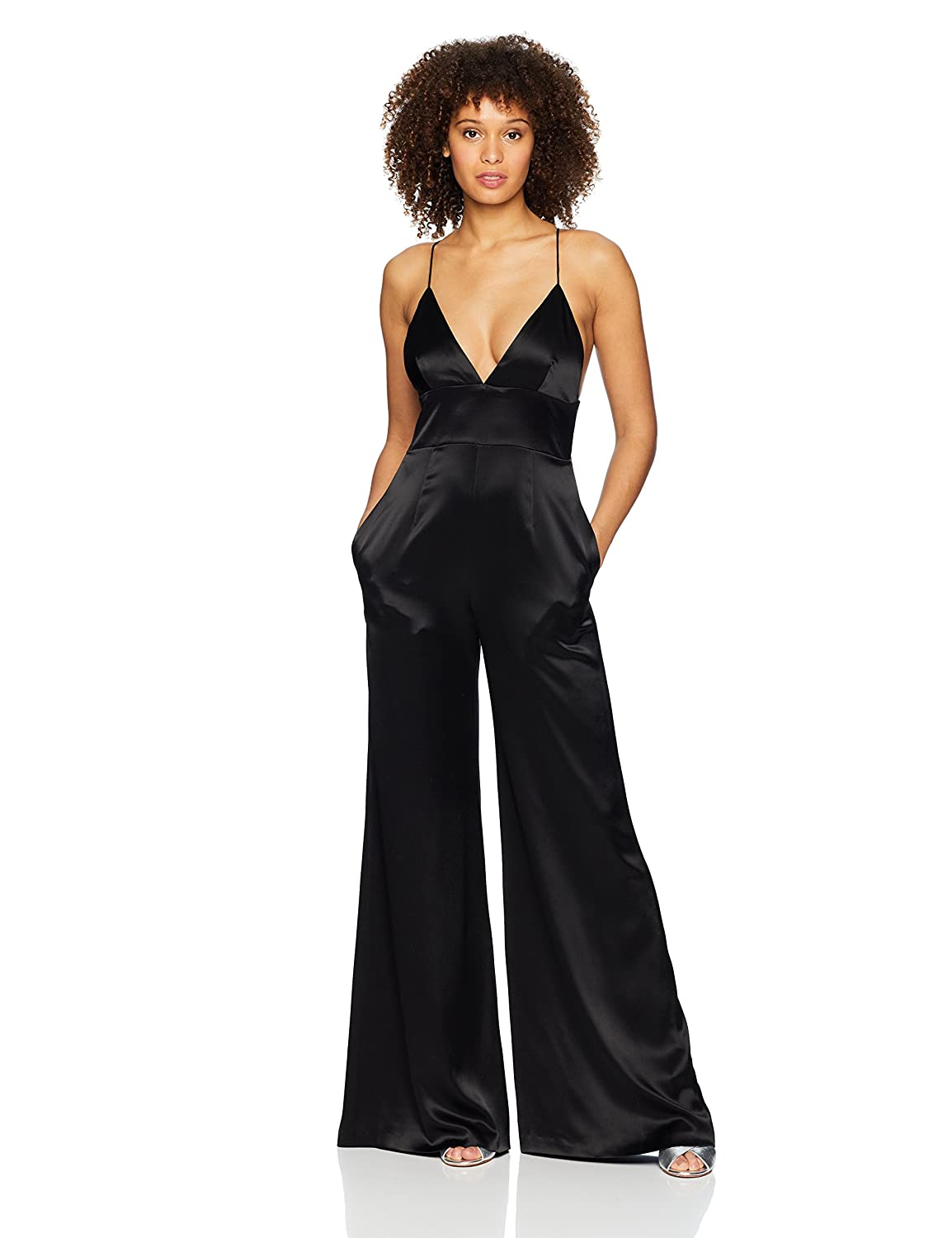 c8cb7228bc2f Jill Jill Stuart Women s Satin Jumpsuit Special Occasion Dress  Amazon.co.uk   Clothing