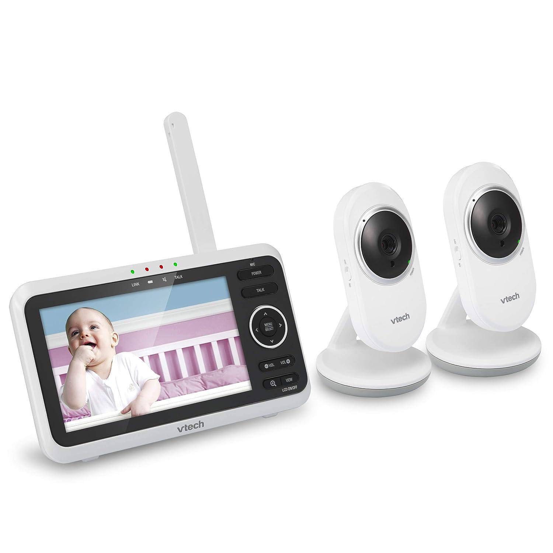 Video Baby Monitor Infrared Night Vision Temperature Sensor 2 Cameras VTech Gift