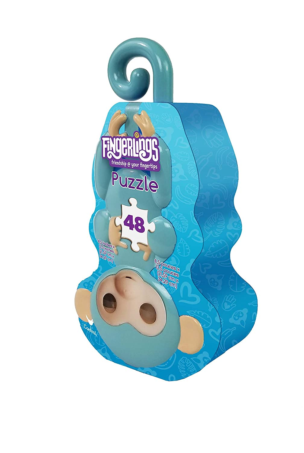 Cardinal Industries Fingerlings Monkey Tin Puzzle in Character Tin