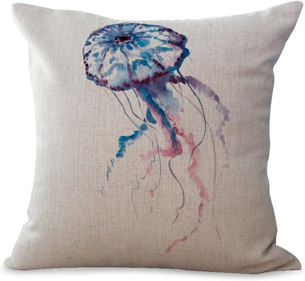 Wholesalesarong Sea Life Marine Jellyfish Ocean Animal Cushion Cover Decorative Throws And Pillows Home Kitchen Amazon Com