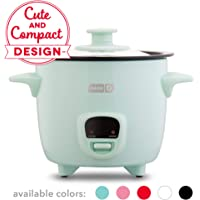 Dash DRCM200GBAQ04 Mini Rice Cooker Steamer with Removable Nonstick Pot, Keep Warm Function & Recipe Guide, Aqua