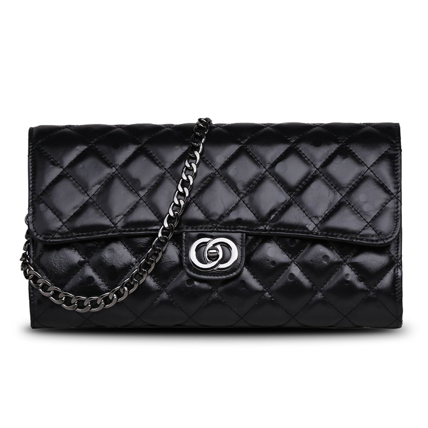Ainifeel Quilted&Chain Strap Collection レディース B01N0GN2WI ブラック