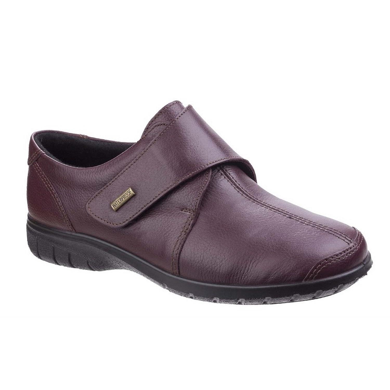 Cotswold Mujer Cranham Impermeable Zapatos Zapatillas Velcro 38 EU|Burdeos