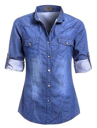 14 Femmes Ss7 Léger Jeans Tailles En Chemise Nouvelles 20 Grandes Oqq5w8P