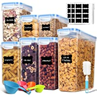Airtight Food Storage Containers, EAGMAK Cereal Containers, Plastic BPA Free Kitchen Pantry Storage Container for Flour…