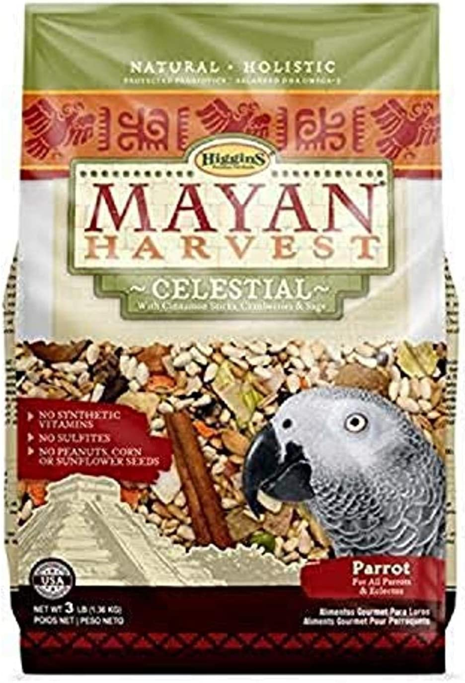 Higgins 466213 Mayan Harvest Celestial For All Parrots - 3 Pound