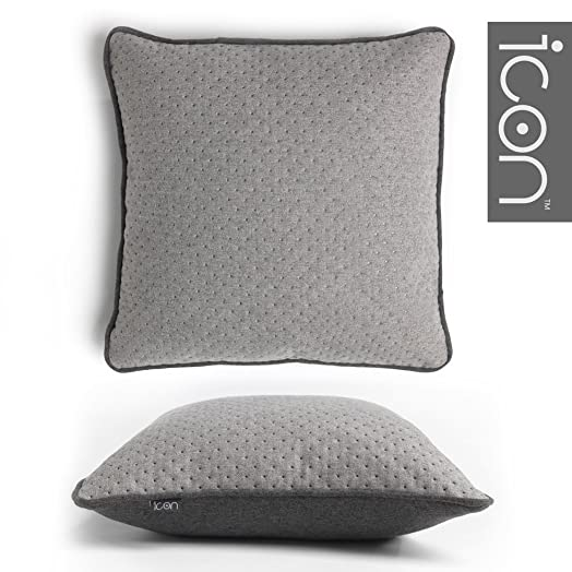 ICON Quilted Pattern Cushion - Luxury Quilted Cushions (Grey/Grey ... : quilted cushions - Adamdwight.com