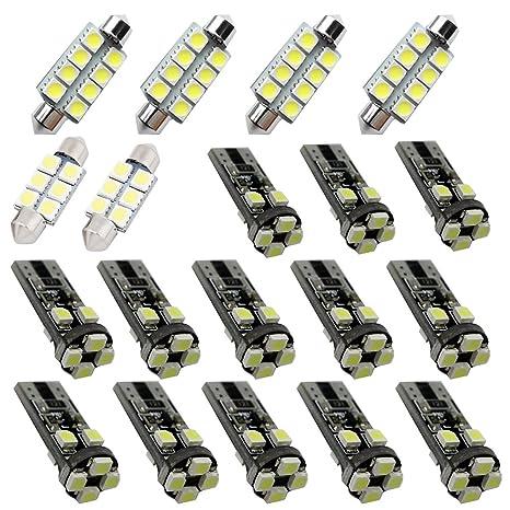 For BMW 3 Series E90 E92 M3 LED Led Interior Lights Led Interior Car Lights  Bulbs Kit White 19pcs 2006-2012