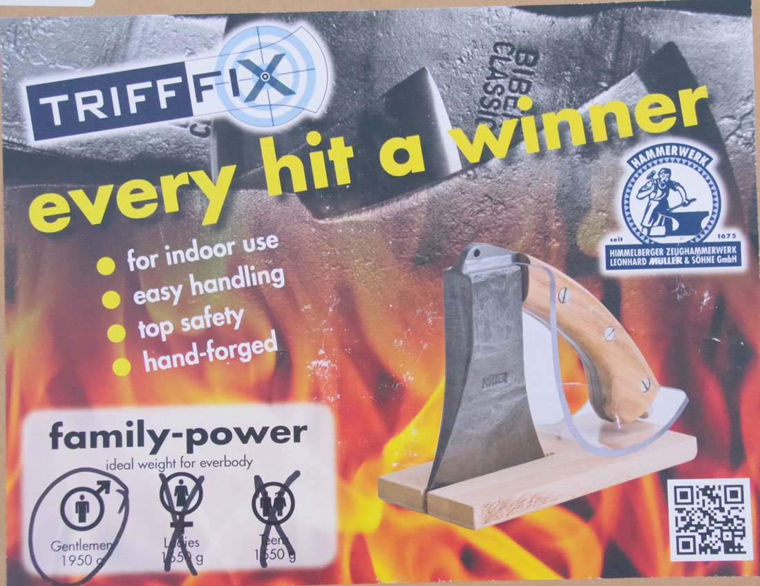 Muller Trifffix kindling splitting axe ladies medium 1650g 7281,16 by muller