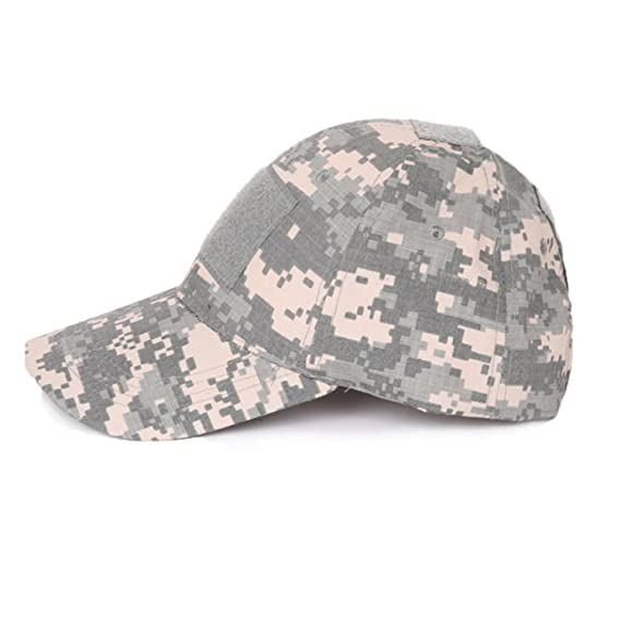 7caef6deb56c3 QHIU Casquettes de Baseball Tactique Army Protection Solaire Camouflage  Chapeau pour Randonnée Paintball Sports de Plein
