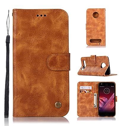 premium selection cfab6 fd04a Amazon.com: Luckyandery Moto Z2 Play wallet case,Moto Z2 Play case ...