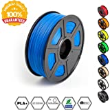 3D Printer Filament PLA Plus Blue(more like sky),PLA Plus Filament 1.75 mm SUNLU,Low Odor Dimensional Accuracy +/- 0.02 mm,2.2 LBS (1KG) Spool for 3D Printers & 3D Pens,Blue(more like sky)