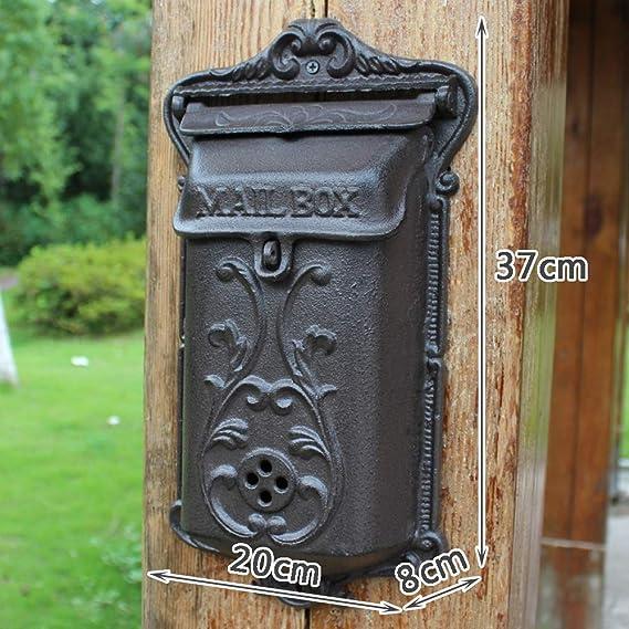 zenggp Buzón De Letra Retro Estilo Antiguo Buzón De Pared Estilo Rural Caja De Correo De Hierro: Amazon.es: Hogar