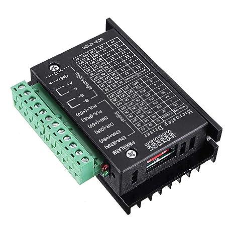 TB6600 controlador de motor paso a paso mejorado para 4A 9~40V TTL ...