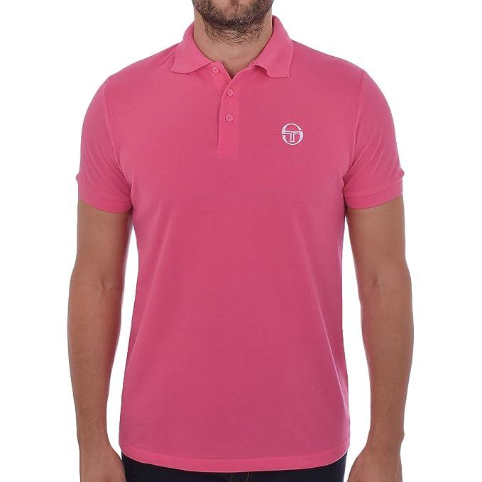 8b263466 Sergio Tacchini Mens Heigham Short Sleeve Polo Shirt - Fan - S Pink at  Amazon Men's Clothing store: