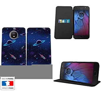 Motorola Moto G5S funda piel Style Planet Galaxy Rocket IS launched.  Collection Pattern Carcasa Cover f3277367b98
