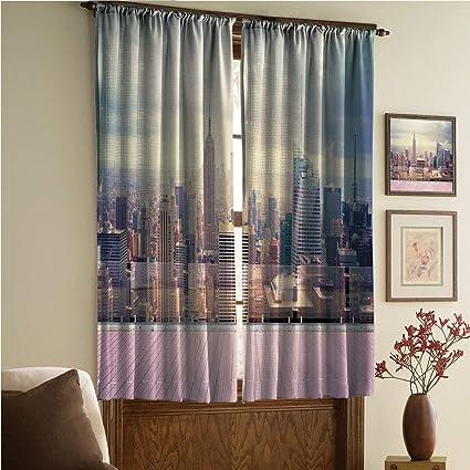 Amazon.com: whitepurplecassie curtain iPrint Stylish Window ...