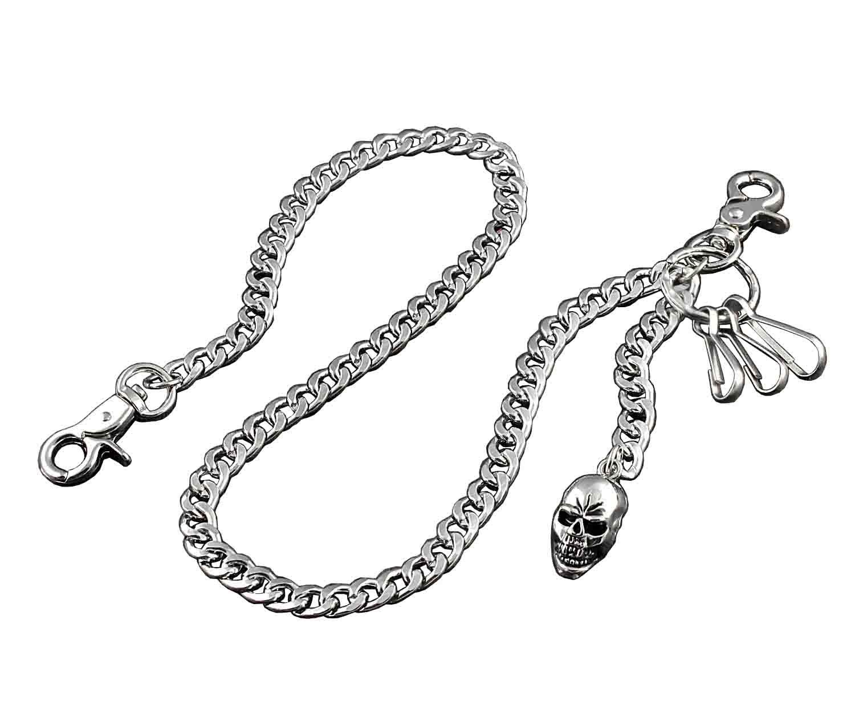 Skull Pendant Strong Biker Trucker Key Jean Wallet Chain (23.5) Silver NYL88 vogueteen