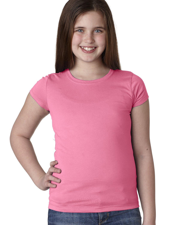 XL Next Level Girls Princess Tee Hot Pink