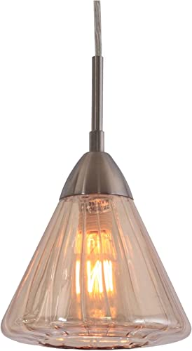 Woodbridge Lighting 13223STN-C60633 1-Light Mini Pendant, Satin Nickel