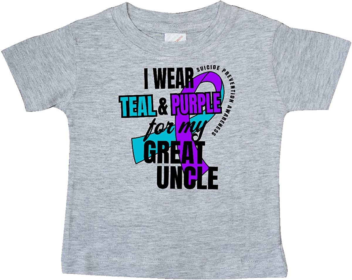 inktastic Suicide Prevention I Wear Teal and Purple for My Great Baby T-Shirt