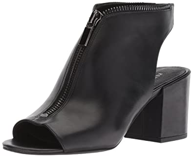 c811bbce562 Kenneth Cole New York Women s Verve Peep Toe Dress Bootie Front Zip Ankle  Boot
