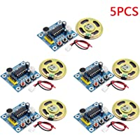 Refaxi ISD1820 Sound Voice Recording Playback Module with Micro Sound Audio Speakers DIY Robot (5PCS)