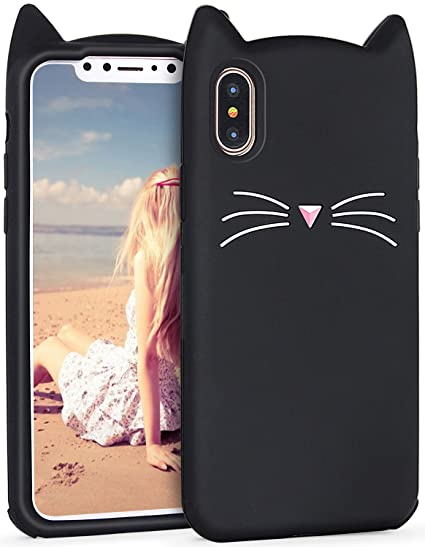 Amazon Com Iphone X Case Imikoko Protective Cute Cat Soft