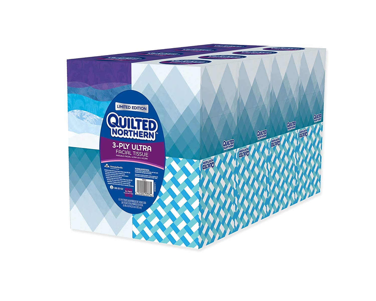 Quilted Northern Ultra Facial Tissue 65 tissue Cube - 16 Count