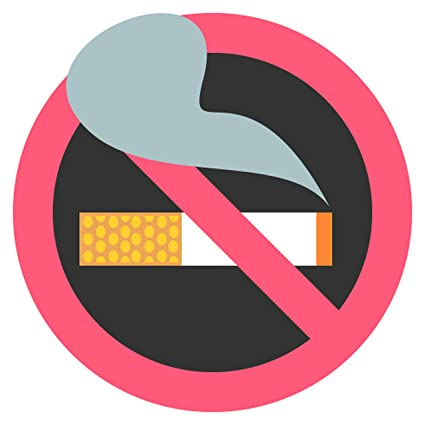 Amazon Com No Smoking Symbol Emoji Metal Sign Garden Outdoor