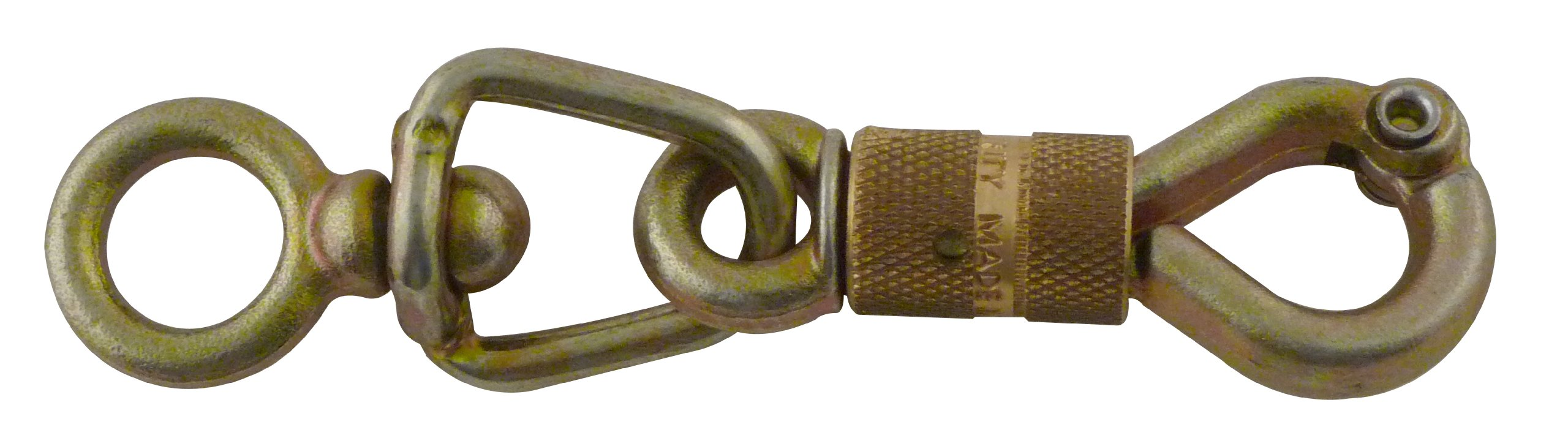 Viso PMS111NP Mild Steel Security Snap Hook - Yellow Zinc Plated