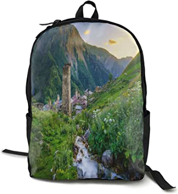 Andes Mountains Sunset Evening Mountain Landscape Backpack Unisex Travel Daypack School Backpack Laptop Bag For Boys Girls
