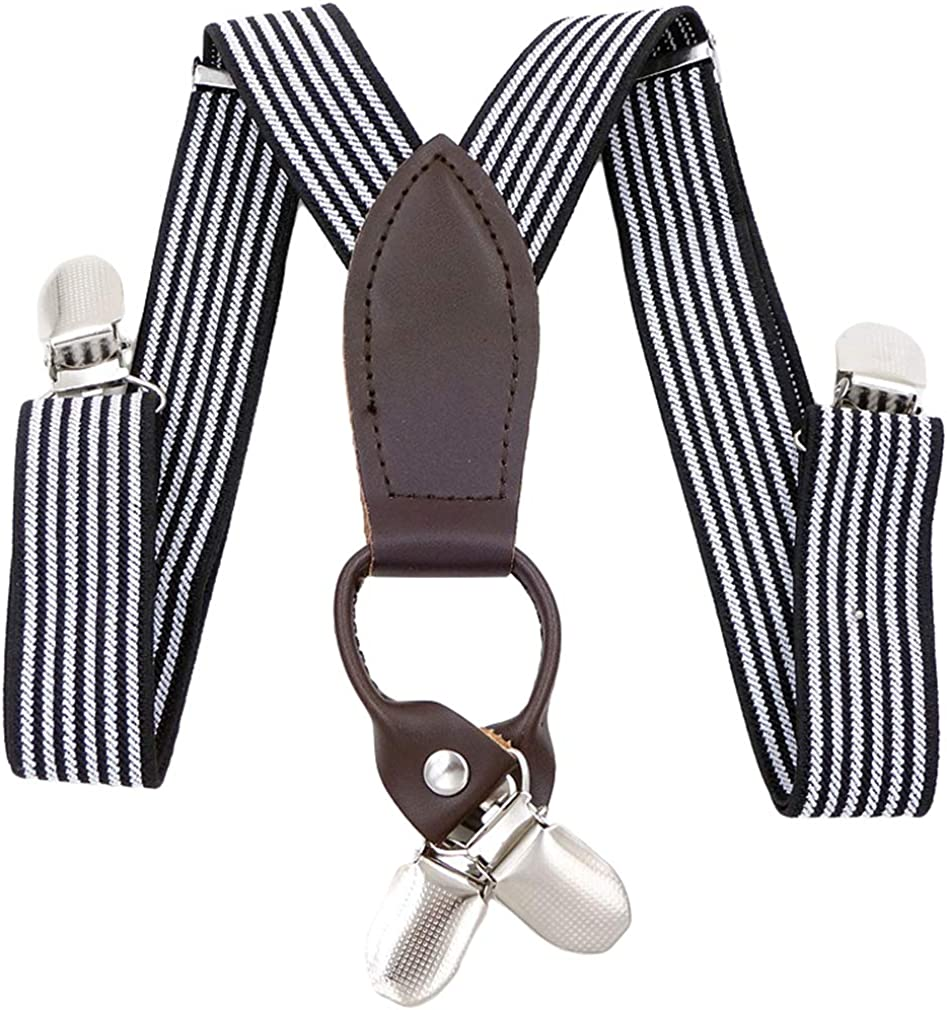 christmas lady girl BOY man suspenders clip on SLIVER