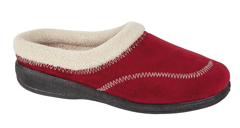 Nouveaux Ladies sur Door Bed 19917 Bottes Bed Mules Escarpins Hiver Femmes Slip sur Chaussures Hiver Chaussons KATHY-Burgundy 8b99a97 - boatplans.space