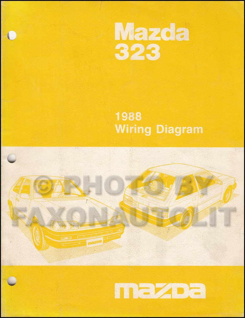 1988 Mazda 323 Hatchback and Sedan Wiring Diagram Manual Original: Mazda:  Amazon.com: Books