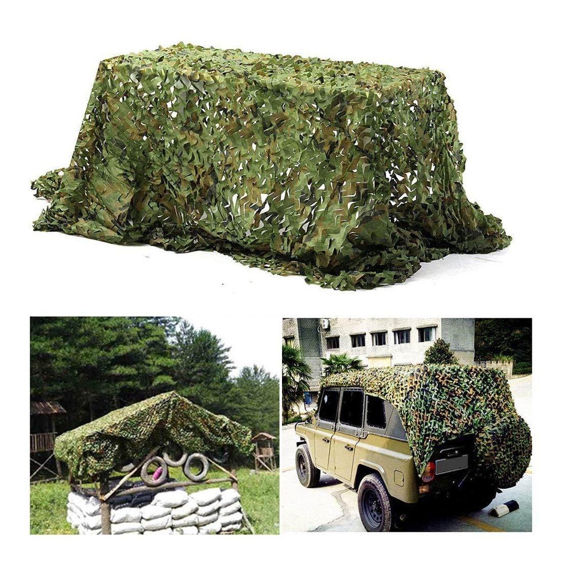 Woodland Filet de Camouflage 2x3m 3x5m, Filet de Camouflage Ajouté Filet de Renforcement Filet de Prougeection Contre Le Soleil, pour Cacher Tente Pêche Décoration Jardin Voiture, Différentes Tailles  6x10M(19.4x32.8ft)