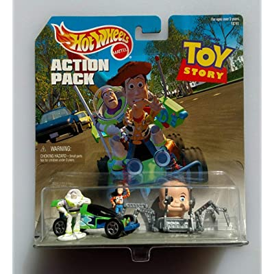 Hot Wheels Action Pack TOY STORY with RC CAR, BABY FACE, BUZZ & WOODY: Toys & Games