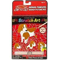 Melissa & Doug On the Go Scratch Art: Animal Families Hidden-Picture Pad