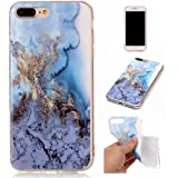 "iPhone 8 Plus Case,Gift_Source [Ultra Thin] Premium Flexible Soft Gel TPU Rubber Case Skin Unique Marble Design Clear Bumper Protective Cover for iPhone 8 Plus / iPhone 7 Plus (5.5"") [Ocean Blue]"