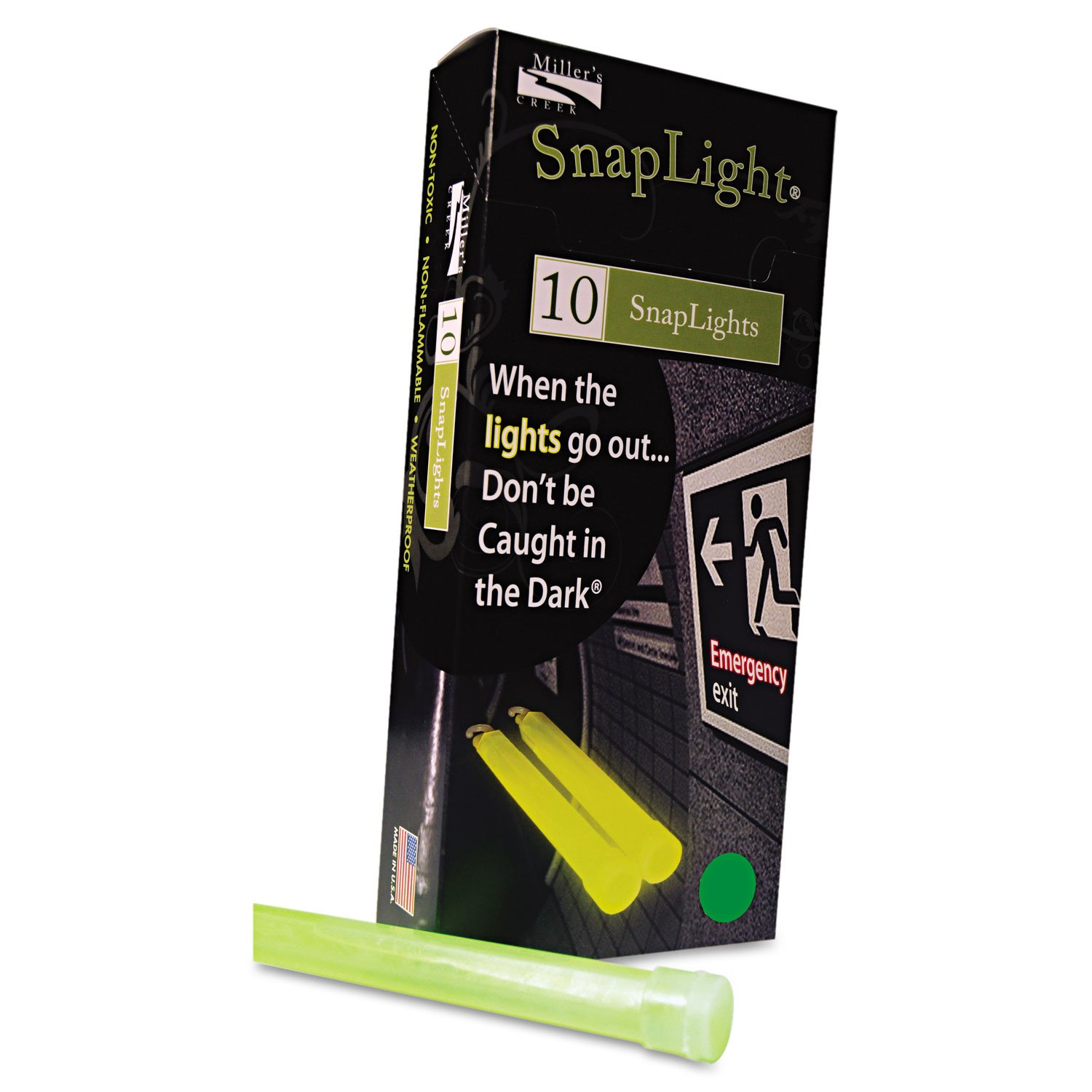 Miller's Creek MLE151848 6' Emergency Light Kits, 12-Hour Blue/Yellow/Red/Green Colored Snaplights Miller' s Creek 9252354
