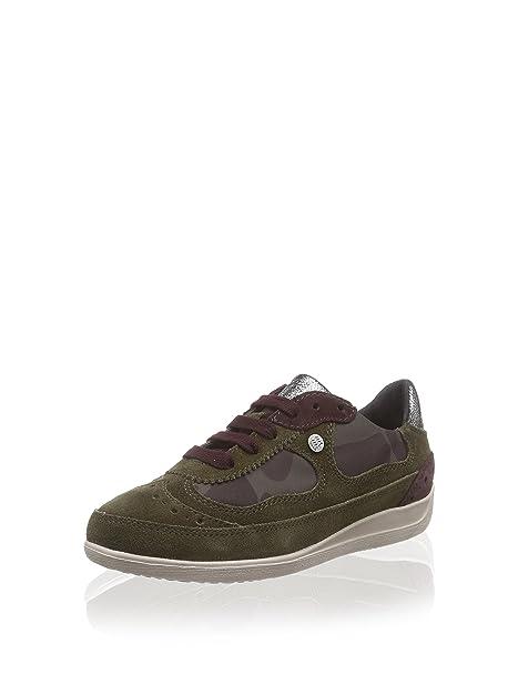 Geox Zapatillas D Myria Barro/Verde Camuflaje: Amazon.es: Zapatos y complementos